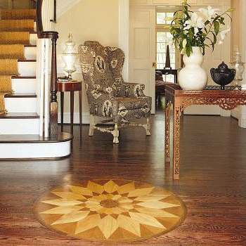 built custom pin medallion entry floors way to suit inlaid gdi wood