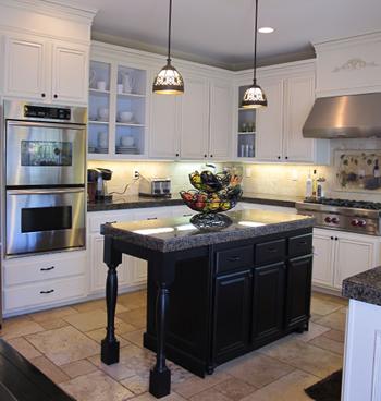small kitchen countertop shelves