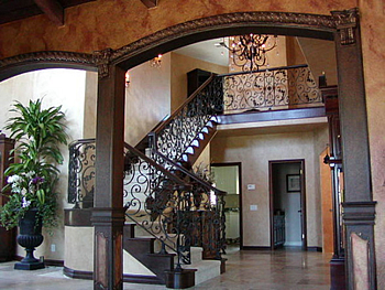 After   Staircase  Tuscan Renovation